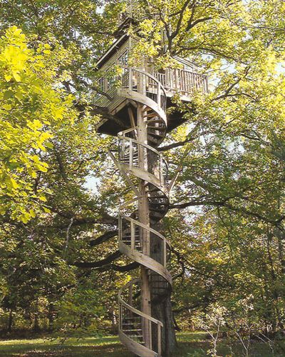 The Spiral House (Rambouillet Forest, France) The Builders Chose To Wind  The Spiral Staircase Around The Trunk Instead Of Chopping Branches