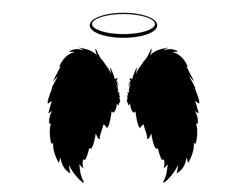 Black Angel Wings And Halo Vector Png And Jpgs Included For 1 50