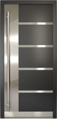 Puerta de entrada abatible de aluminio de pvc for Puertas modernas de entrada principal metalicas