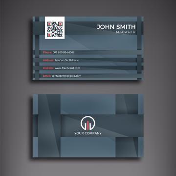 Dark Grey Business Card Blue Business Card Business Card Design Luxury Business Cards