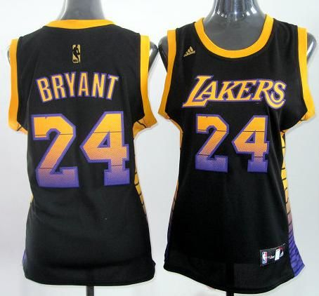 855c88bf777 Women Los Angeles Lakers 24 Kobe Bryant Black Vibe Fashion Revolution 30  Swingman Jersey