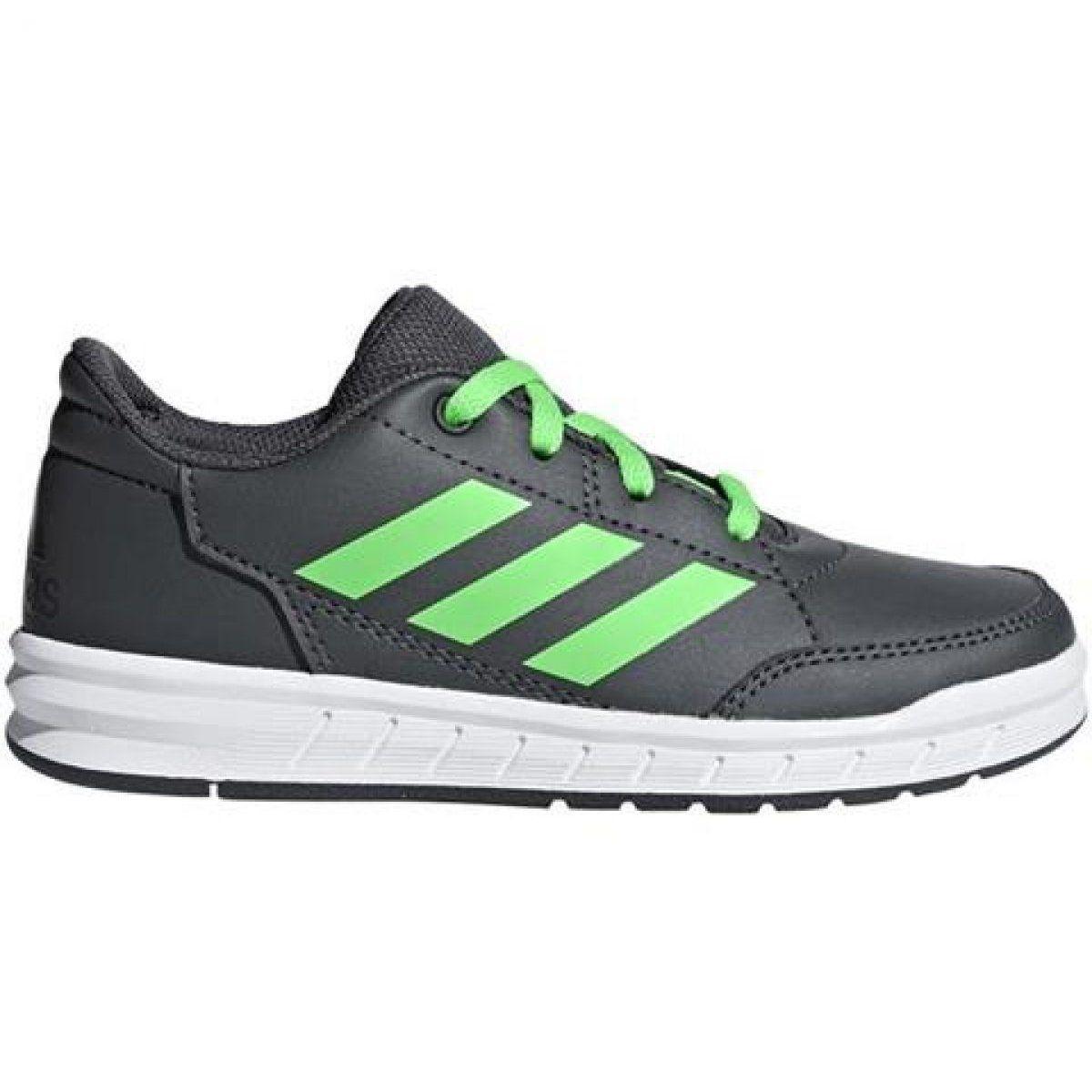 Buty Adidas Altasport Jr D96868 Szare Zielone Adidas Sports Shoes Adidas Shoes