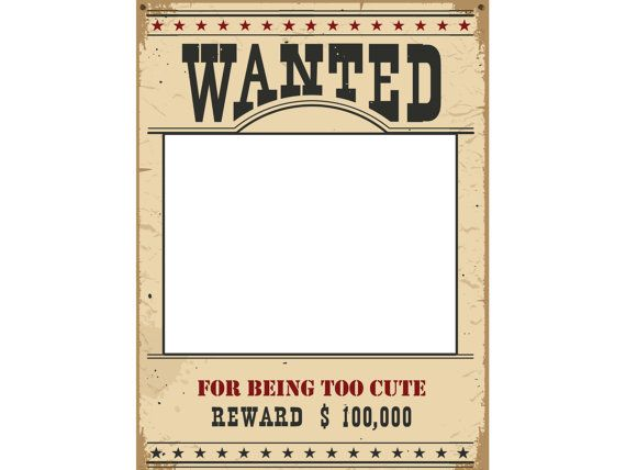 Large Personalized social Wanted Poster photo booth prop frame - most wanted poster templates
