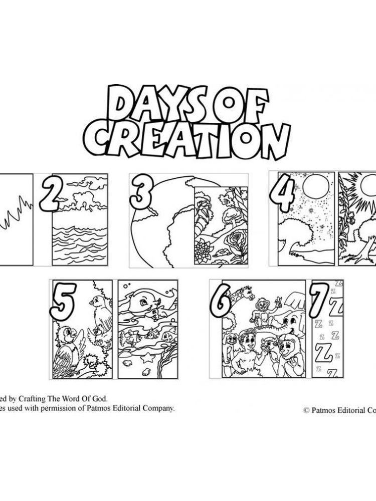 Free Printable 7 Days Of Creation Coloring Pages The Biblical Accounts Found In Genesis 1 And 2 Creation Coloring Pages Days Of Creation Bible Coloring Pages