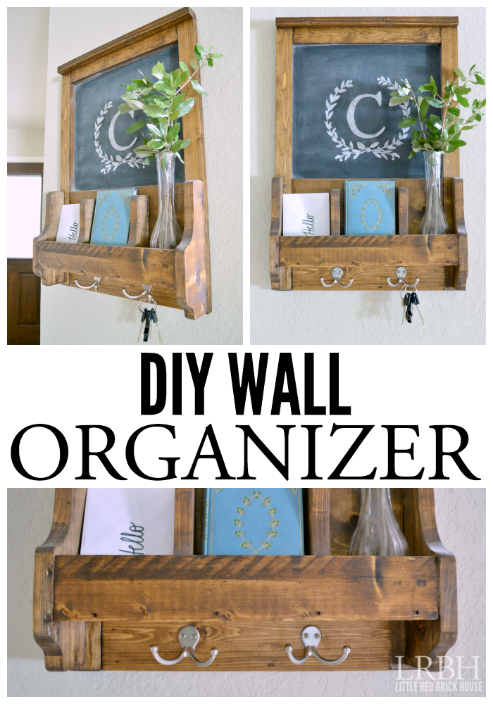 Wall organizer with chalkboard organizadores repisas y bricolaje corral the keys mail and other clutter with this easy diy wall organizer project solutioingenieria Choice Image
