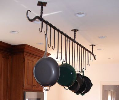 Blacksmith : Custom Designed Pot Rack : Hand Forged Steel ...