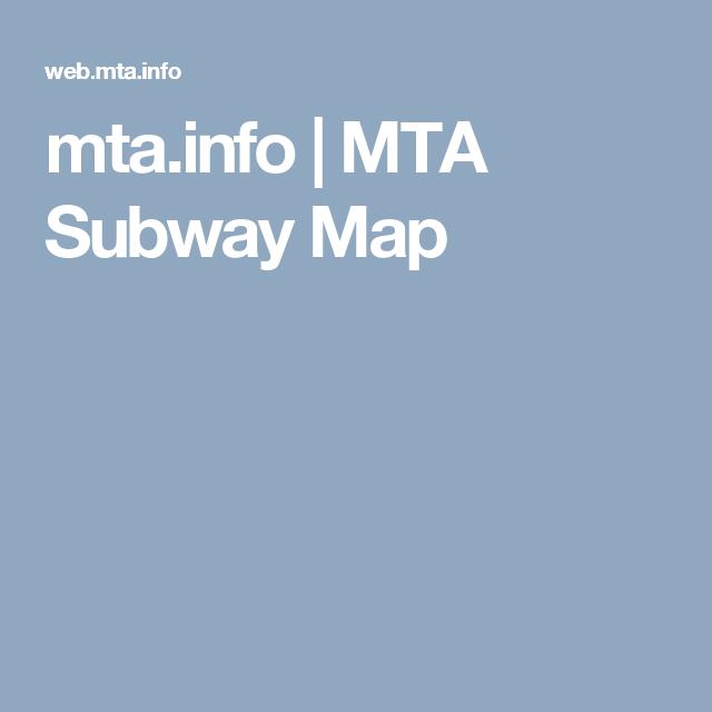 mta.info | MTA Subway Map | Travel | Pinterest | Subway map