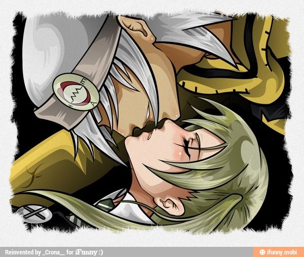 Soul Eater - Soul Eater Evens And Maka Albarn Kissing