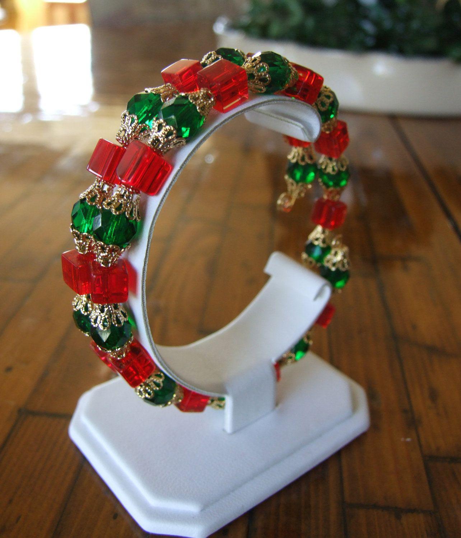 Christmas bracelet. $8.00, via Etsy.
