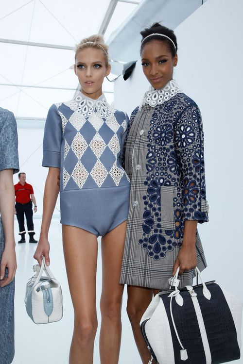 anja rubik, Jourdan Dunn, models, fashion, Backstage, louis vuitton
