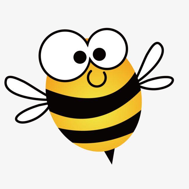 Cute Cartoon Bee Png And Vector Cartoon Bee Cartoon Clip Art Bee Drawing