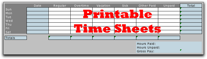 Doc1148632 Printable Time Sheets Forms Time Sheet Format – Free Blank Time Sheets