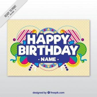 誕生日カードテンプレート かわいいイラスト pinterest