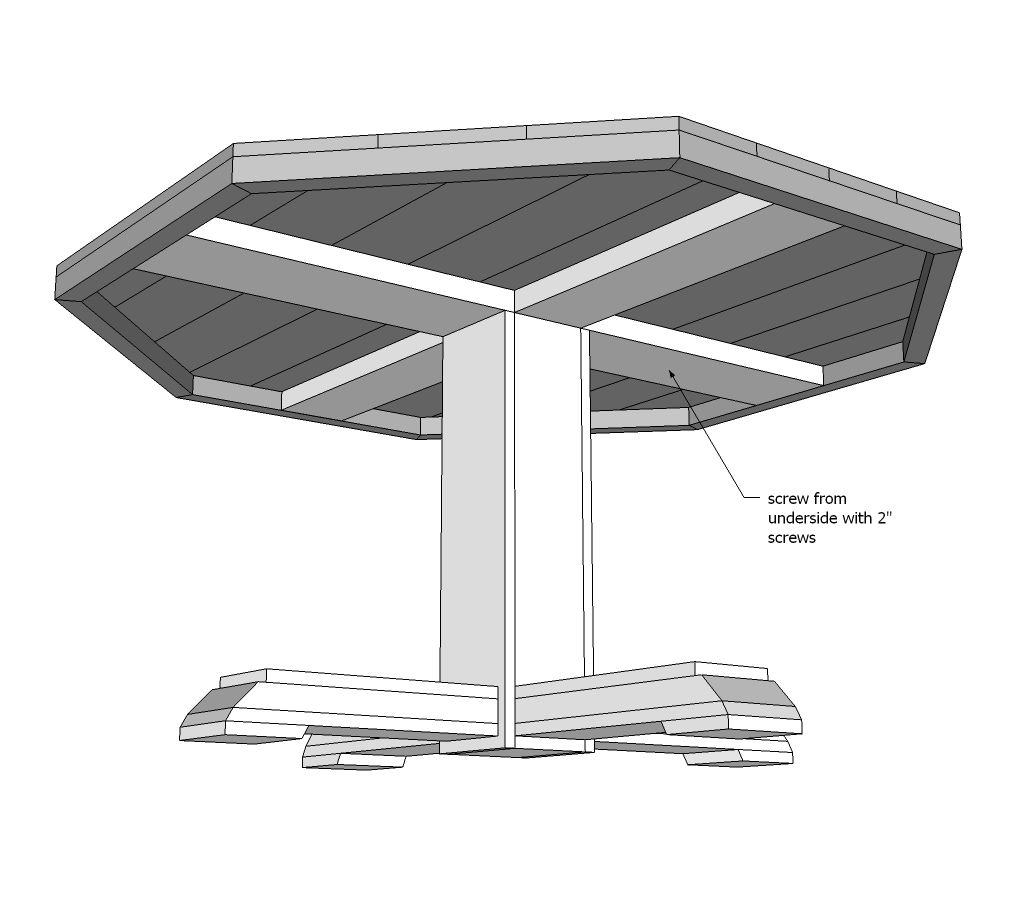 Ana White   Build a Benchmark Octagon Table   Free and Easy DIY ...