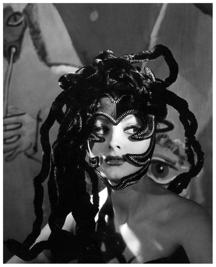 Medusa headdress worn by actress Ursula Thiess, photo by Regina Relang  1949