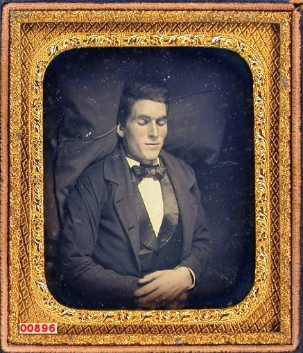 ca. 1850's, [Post mortem daguerreotype portrait of a gentleman]