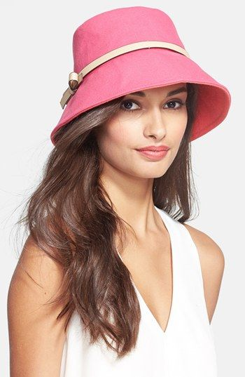 547c222c39c kate spade new york bonded canvas bucket hat available at  Nordstrom ...