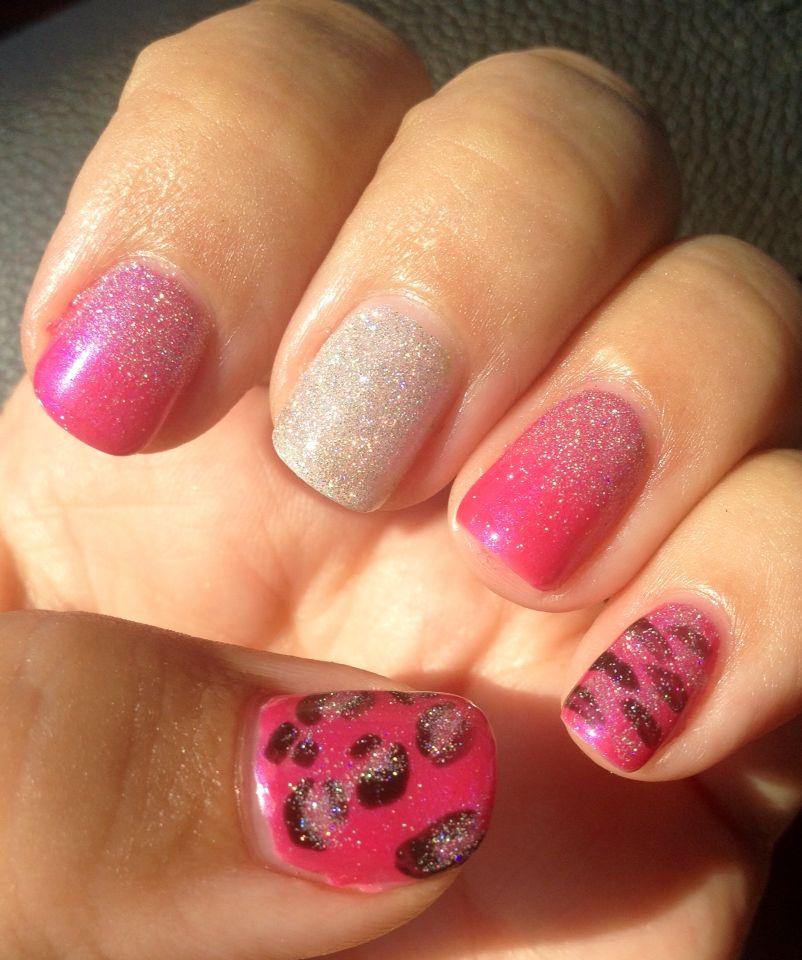 Tutti Frutti Nails: Cnd Shellac In Tutti-frutti With Animal Print Nail Art