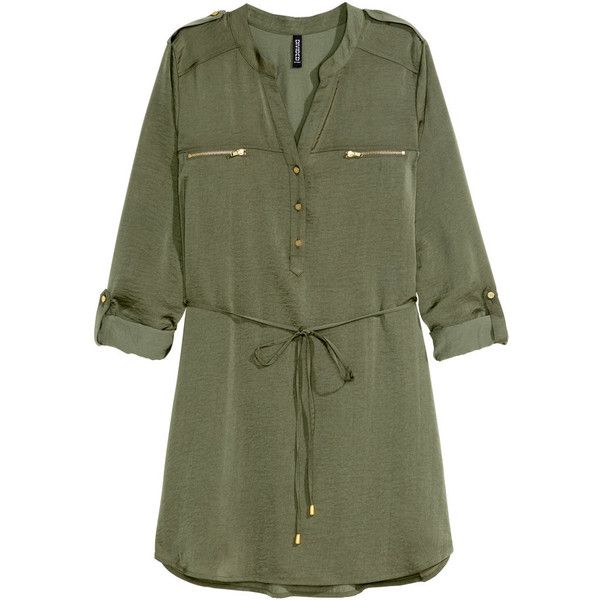 aafd3c91f1b H M Shirt dress ( 30) ❤ liked on Polyvore featuring dresses