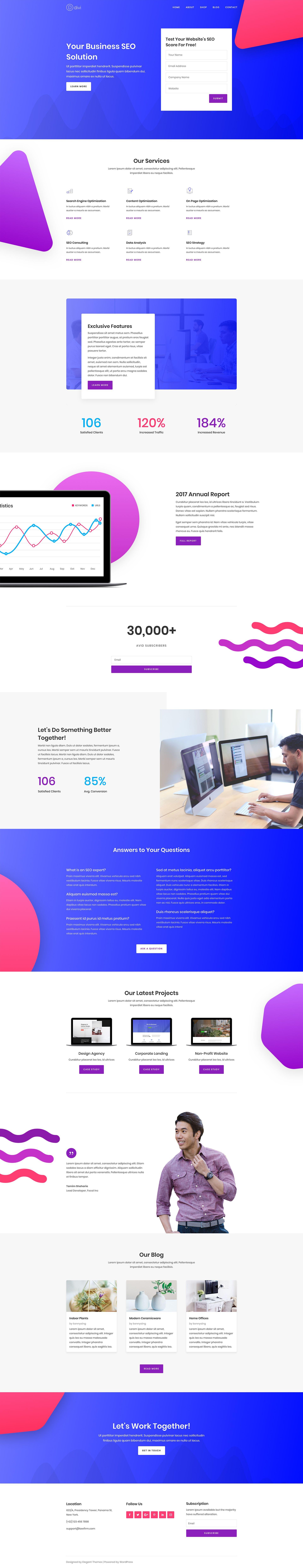 Seo Landing Best Web Design Small Business Web Design Web Layout Design