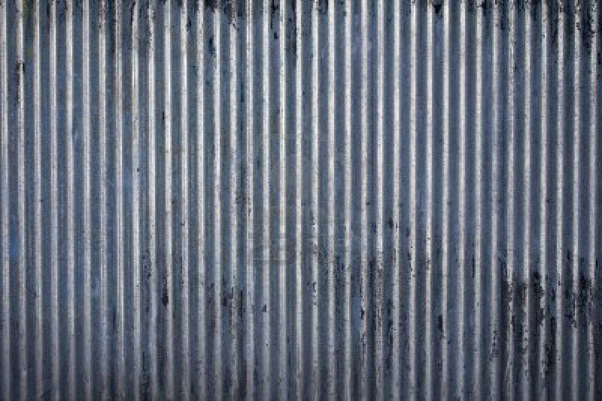 Weathered Corrugated Steel End Cabinet Panels Galvanized