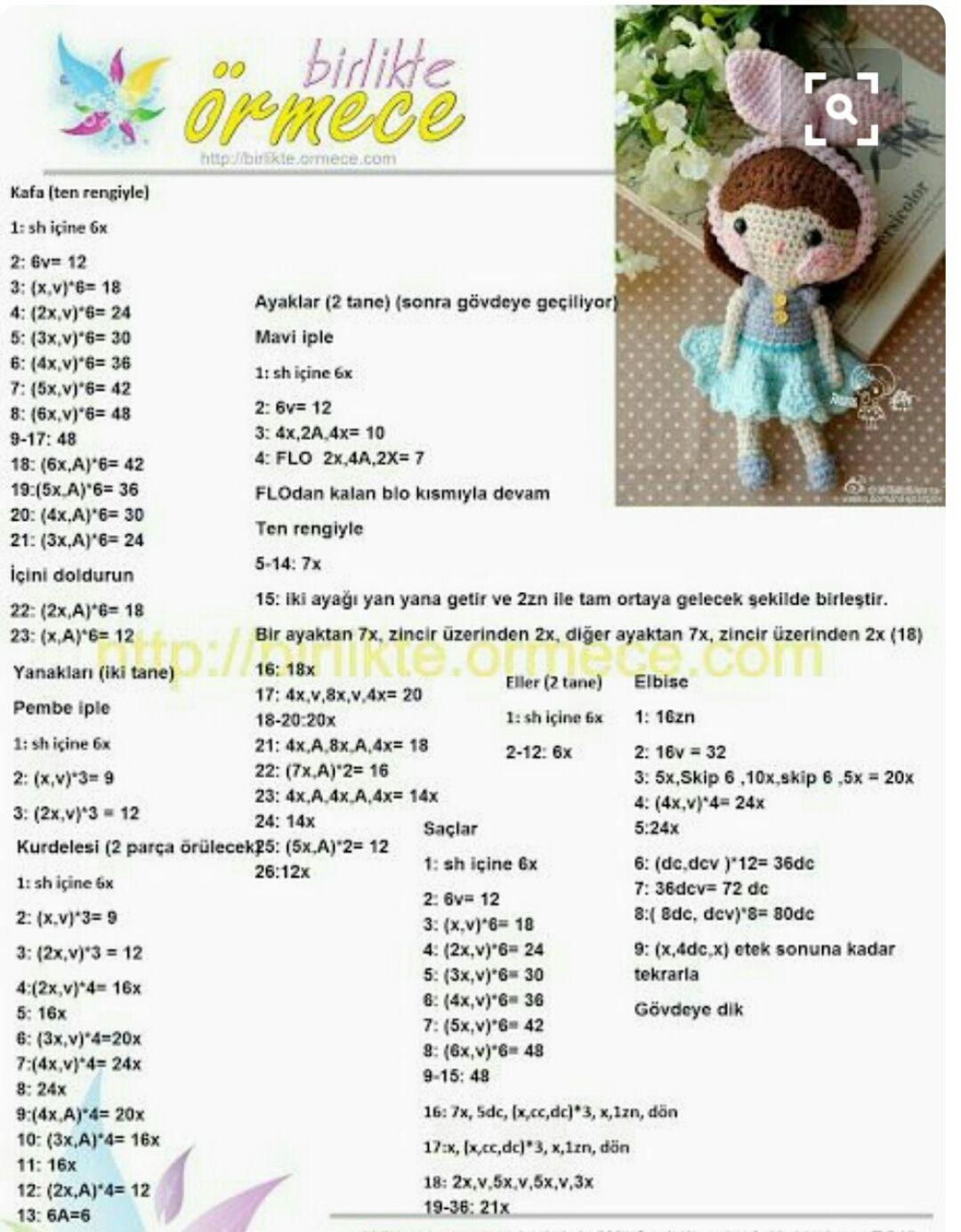 Amigurumi - Bella Bebek Yapımı - Örgü Modelleri   1384x1080