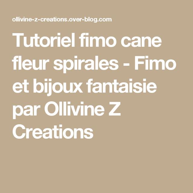 Tutoriel fimo cane fleur spirales - Fimo et bijoux fantaisie par Ollivine Z Creations