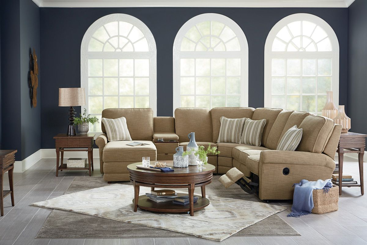 Addison Reclining Sectional With Console And Chaise By Lazboy Godby Home Furnishings In Furniture Prices Furniture Stylish Living Room