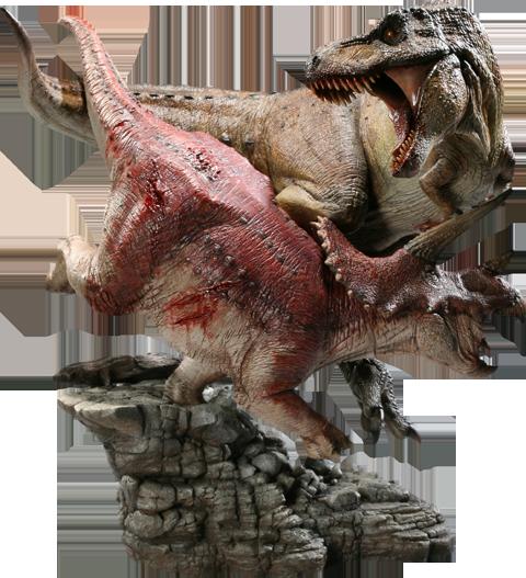 Dinosauria Tyrannosaurus Rex VS Triceratops Diorama Polystone Diorama by Sideshow Collectibles