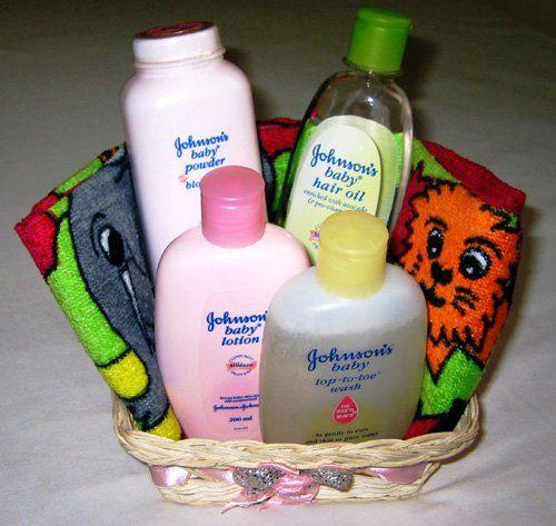 Johnson Johnson S Baby Day Care Gift Basket Blast Gifts Towel Pattern Baby Baskets Gift Baskets