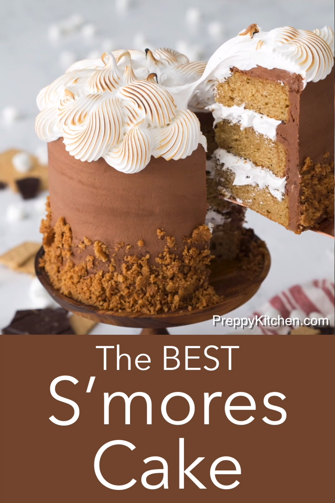 The BEST S'Mores Cake