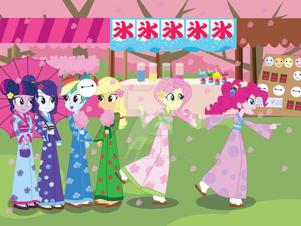 Image pinkie pie and fluttershy flying png my little pony fan - Mlp Eg Fun Day In Japan By Eninejcompany On Deviantart