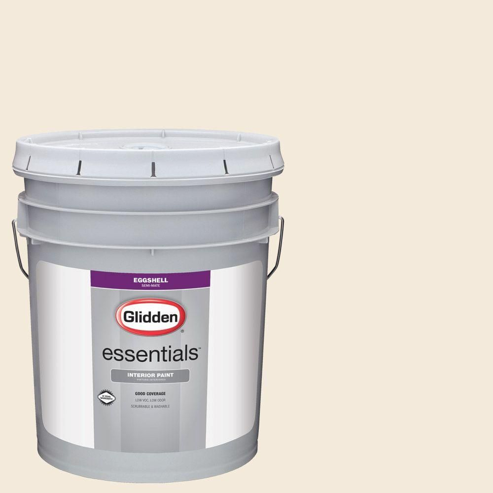 Glidden Essentials 5 gal. #HDGO30 Almond Wisp Eggshell Interior Paint
