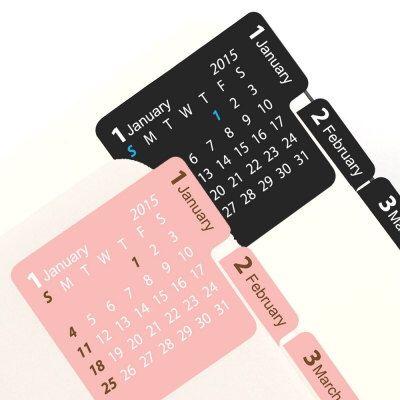 2015 Calendar Index Sticker [ black / pink ] von DubuDumo auf Etsy https://www.etsy.com/de/listing/206471769/2015-calendar-index-sticker-black-pink