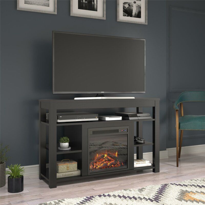 Pettis Tv Stand For Tvs Up To 55 With Fireplace Included In 2020