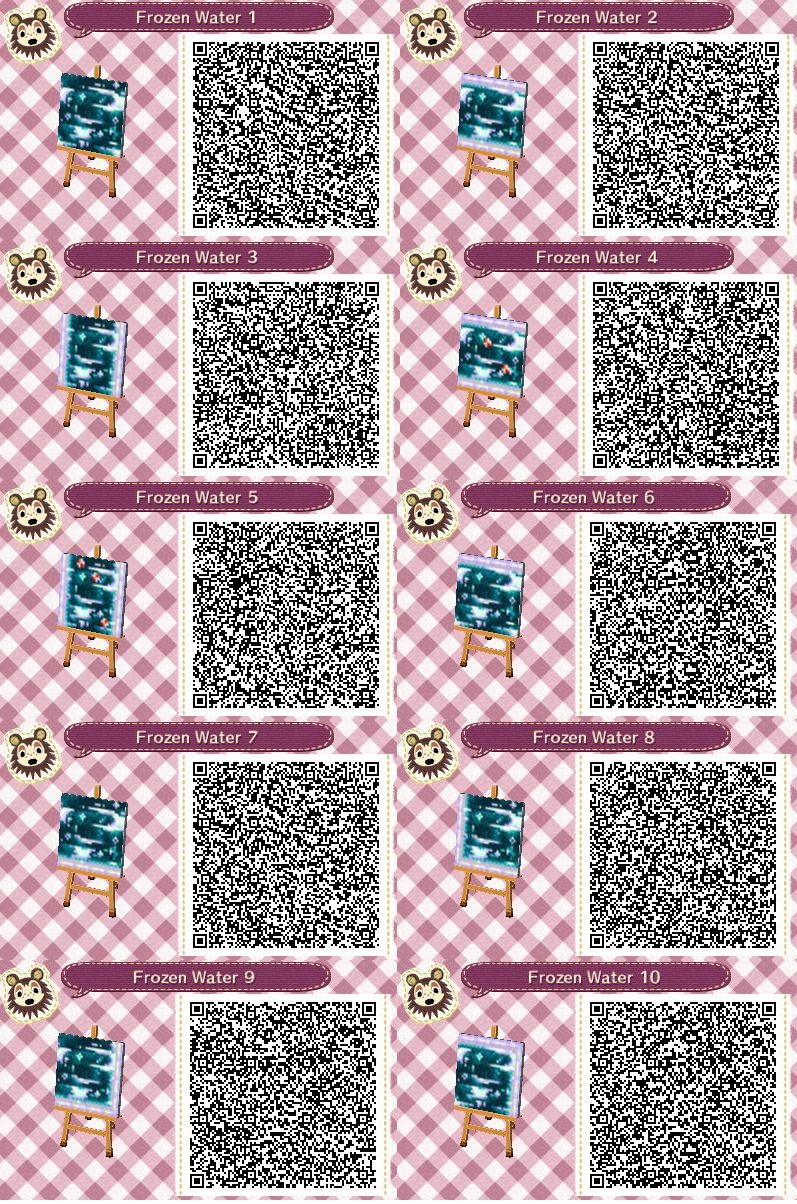 Icy Pathway Animal Crossing Animal Crossing Qr Qr Codes Animal