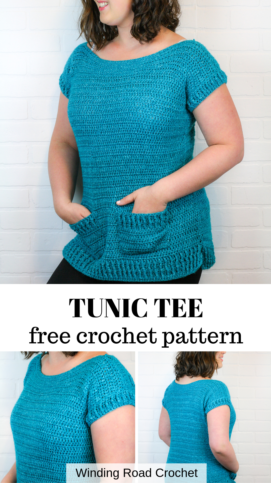 Crochet Tunic Tee Free Pattern - Winding Road Crochet