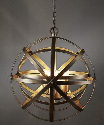 Gyroscope Orb Pendant Light Large Allissias Attic Vintage