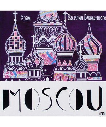 #SélectionArtup   MOSCOU by ALETH M  Artup vous présente ses villes d'ailleurs !      Mais qu'appelle-t-on l'Ailleurs ? Il peut être promesse d'une autre vie, d'une échappée, d'une invitation au voyage quand le réel dans son quotidien est terne. L'ailleurs c'est la dynamique du voyage, de la découverte, mais aussi de l'imaginaire et de l'espace inconnu.      À retrouver sur : http://www.artup-deco.com