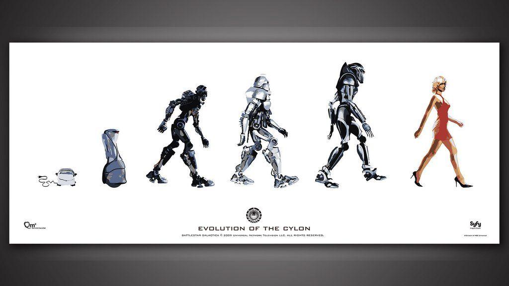 Evolution of the Cylon Poster