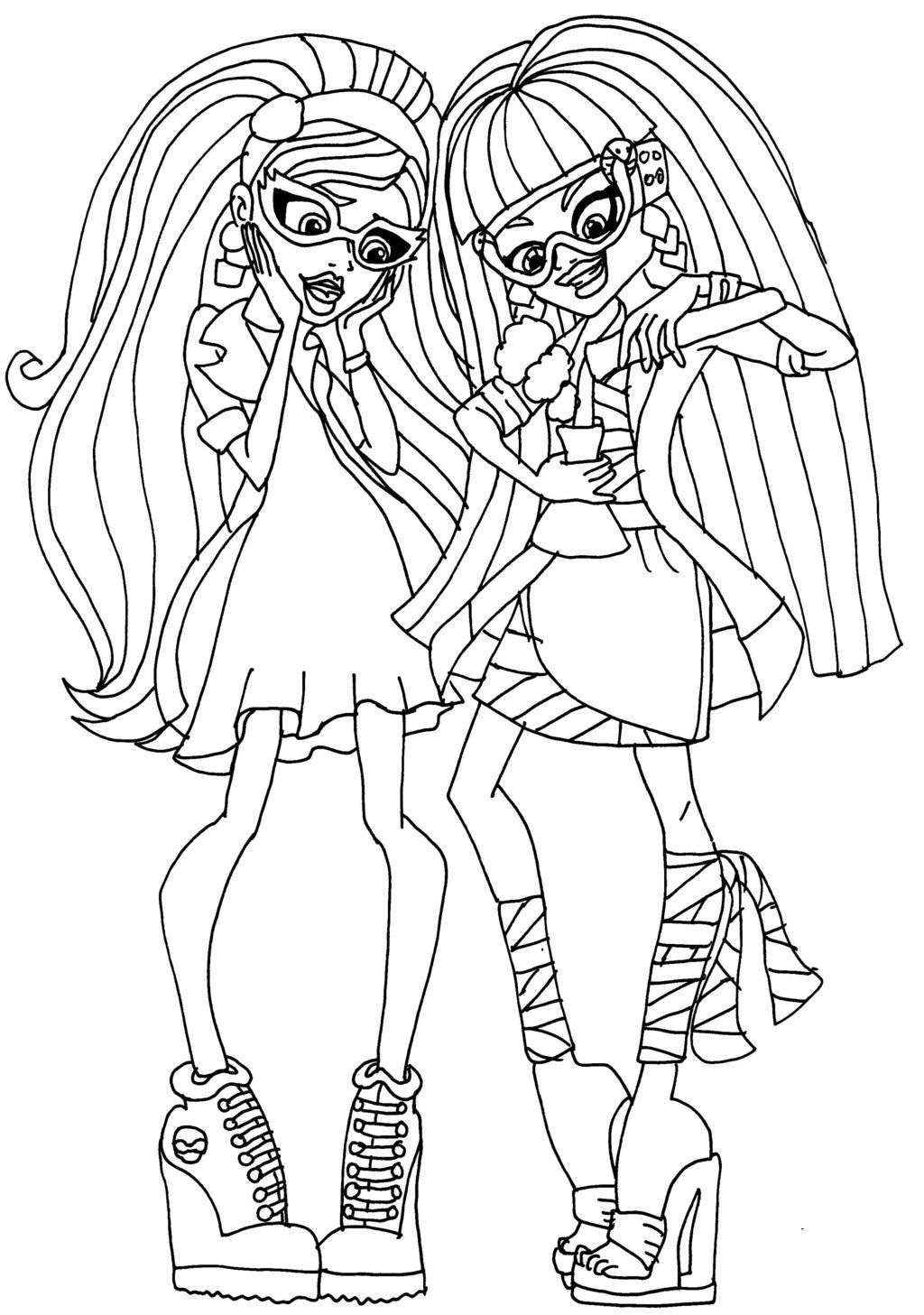 lab partners cleo and ghoulia by elfkena @ DeviantArt | coloring ...