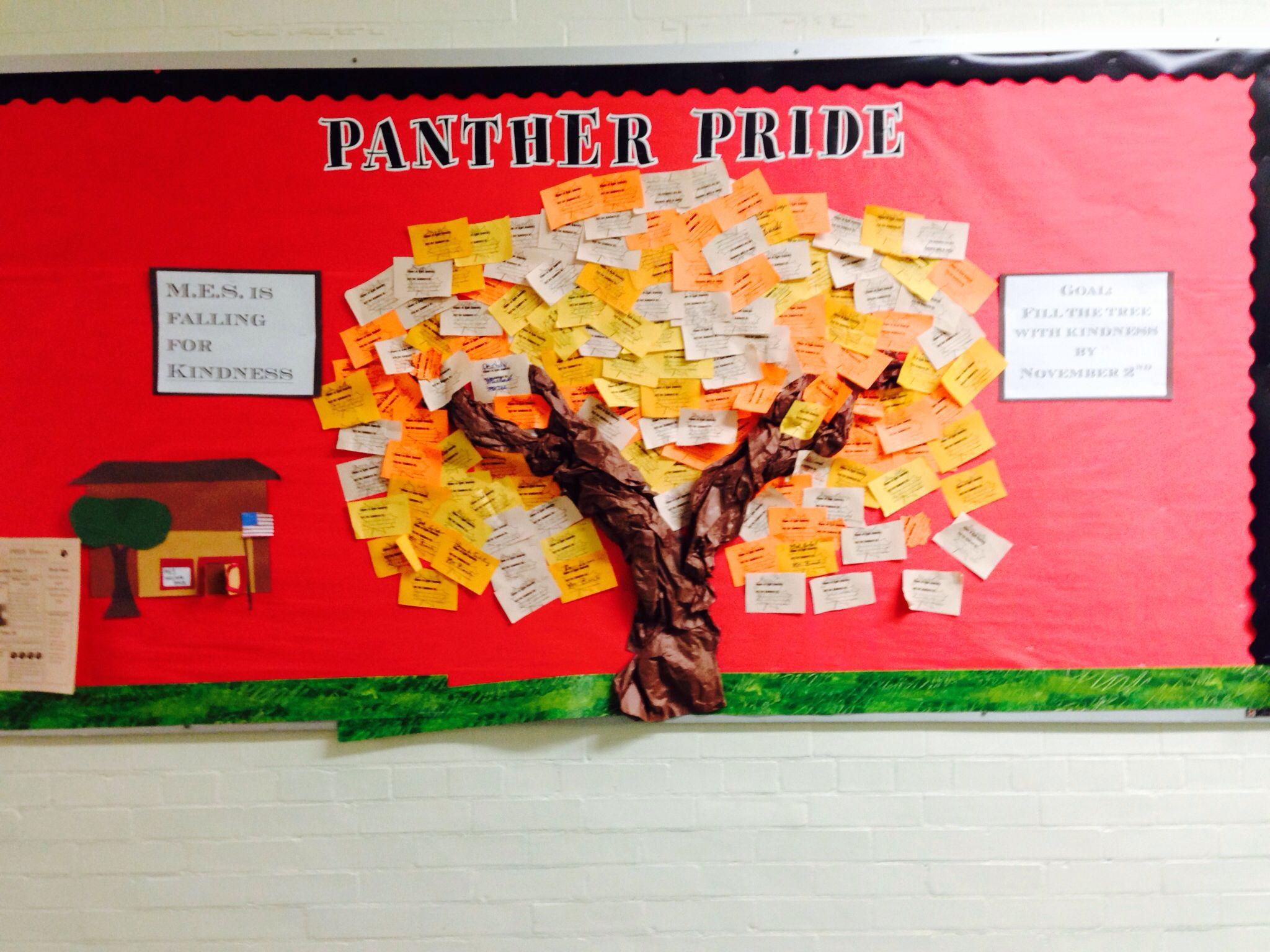 Classroom Improvement Ideas ~ October pbis bulletin board school pinterest