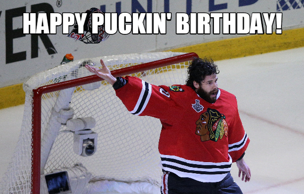 Happy Puckin Birthday In 2020 Corey Crawford Blackhawks Chicago Blackhawks Hockey