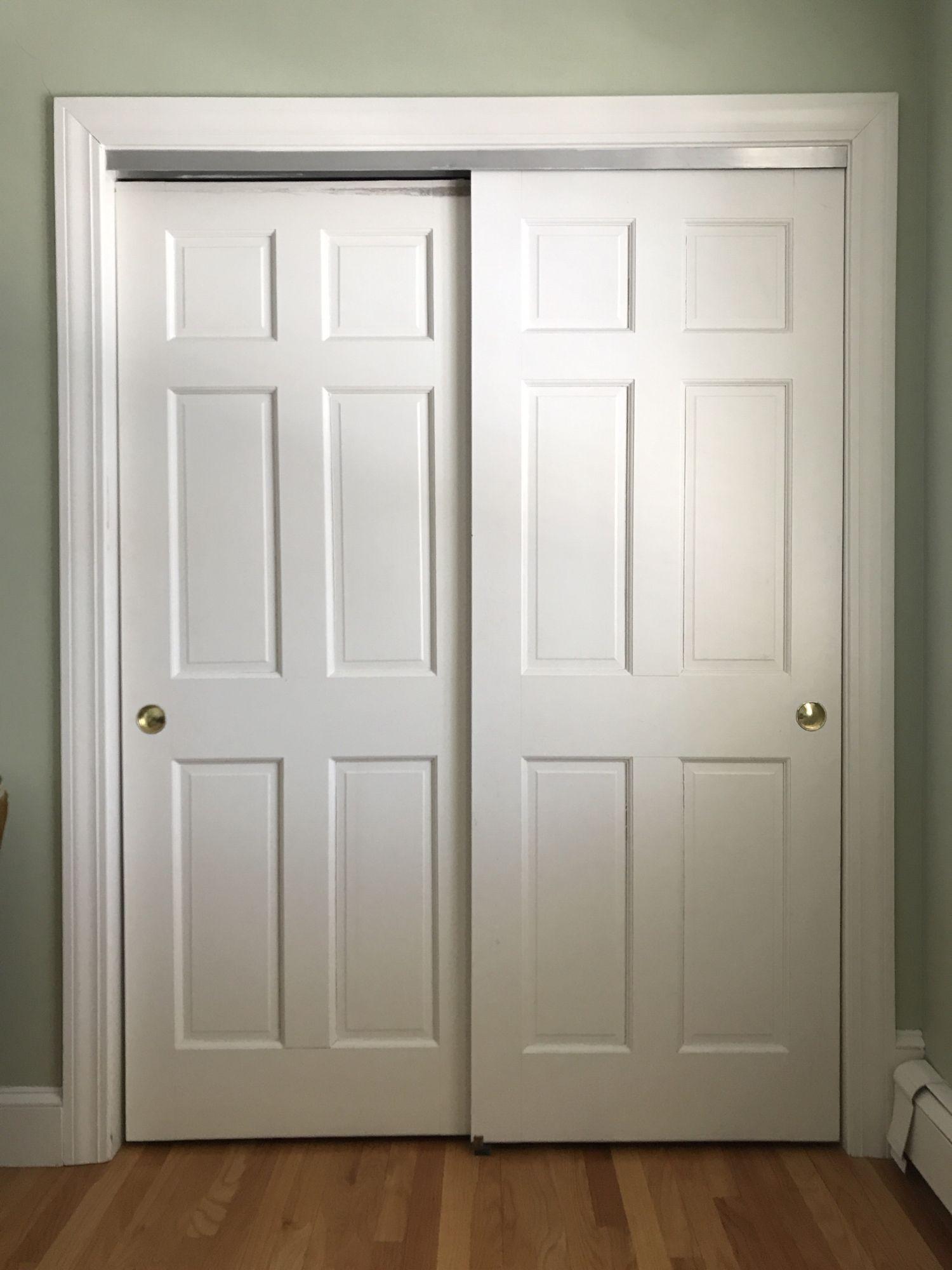 How To Convert Sliding Doors To Hinged Doors The Chronicles Of Home Closet Door Handles Bifold Closet Doors Sliding Closet Doors