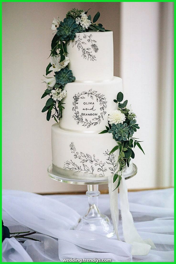 Fantastic Hand painted wedding ceremony cake designed to enhance the marriage stationery Winter  Informations About Hand painted weddin