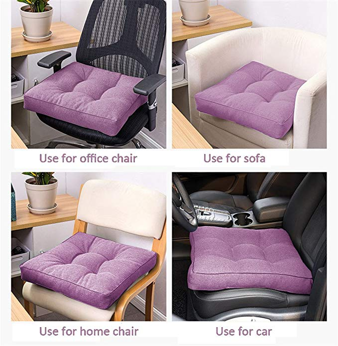 Uther Square Cotton Cushion Pad Seat Chair