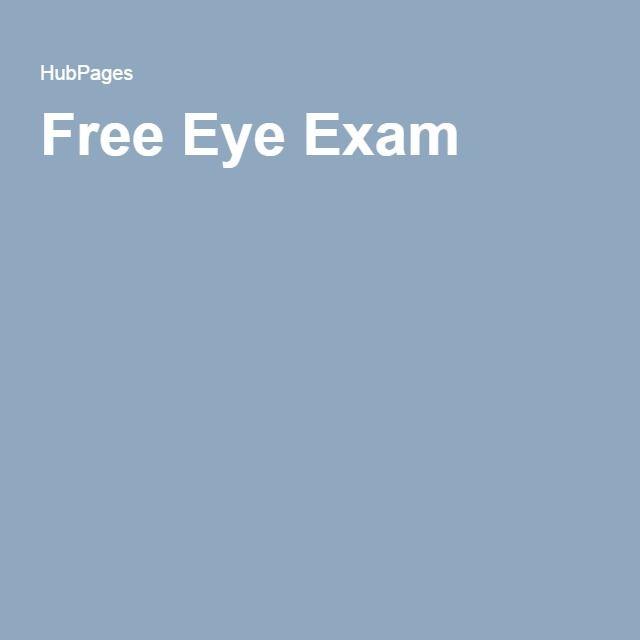 Free Eye Exam Free Eye Exam Eye Exam Exam
