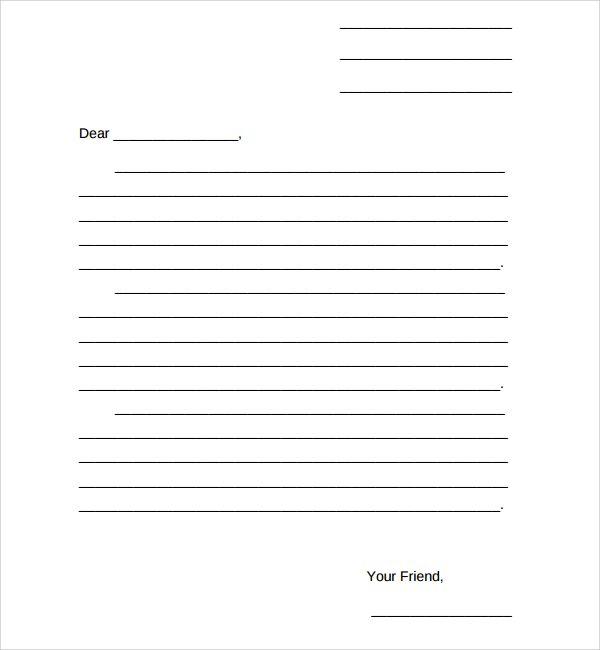 Free Cover Letter Template Friendly Letter Template Pinterest - friendly letter format