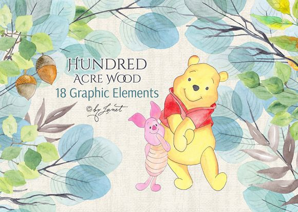 Hundred Acre Wood by helloPAPER on @creativework247  Stop by my Etsy Shop: www.etsy.com/shop/TeoldDesign