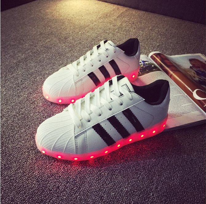 competitive price 2cf42 2e164 UniSex 2186 Super Star Simulation Led Shoes